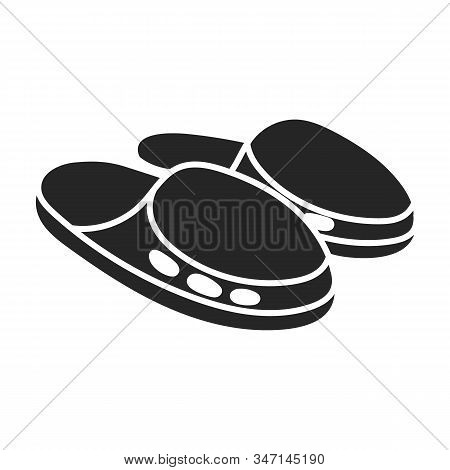 Sandal Vector Icon.black Vector Icon Isolated On White Background Sandal .