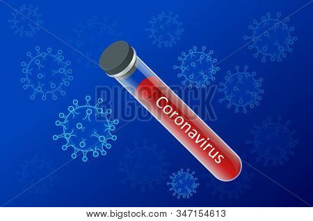 China Battles Coronavirus Outbreak. Coronavirus Outbreak, Travel Alert Concept. The Virus Attacks Th
