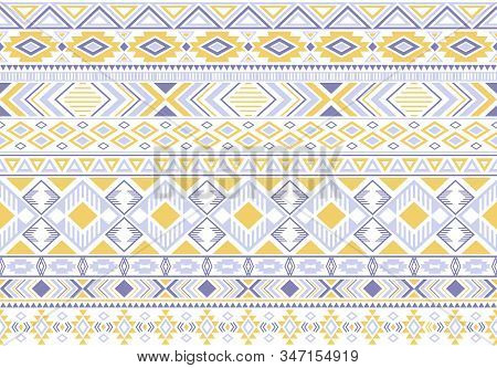 Sacral Tribal Ethnic Motifs Geometric Seamless Background. Beautiful Gypsy Geometric Shapes Sprites