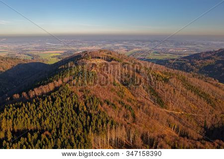 Landscape Of The Beskydy Mountains Forests Destroyed By European Spruce Bark Beetle (ips Typographus