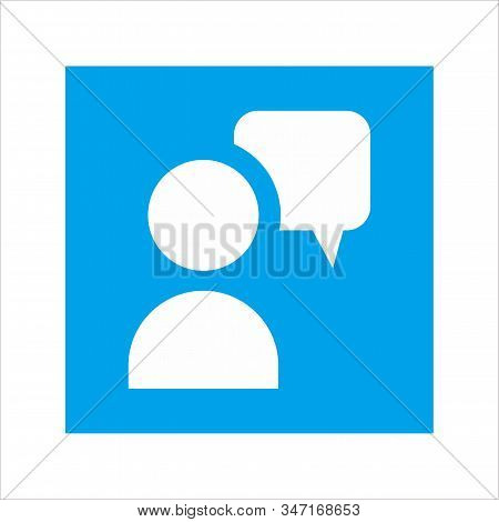 Business Teamwork Concept Icon Sign. Discussion Icon Symbol. Message Talk Chat Dialog Icon. Vector I