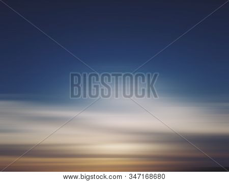 Blurry Sunset Sunrise Sky Backgrounds. Nature Natural Abstract Lue Sky Background. Blur Digital Moti