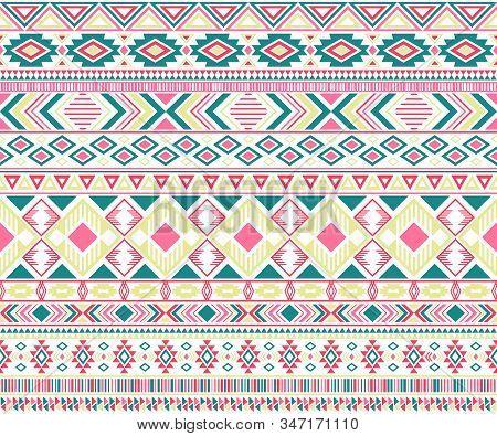 Sacral Tribal Ethnic Motifs Geometric Vector Background. Unusual Gypsy Tribal Motifs Clothing Fabric