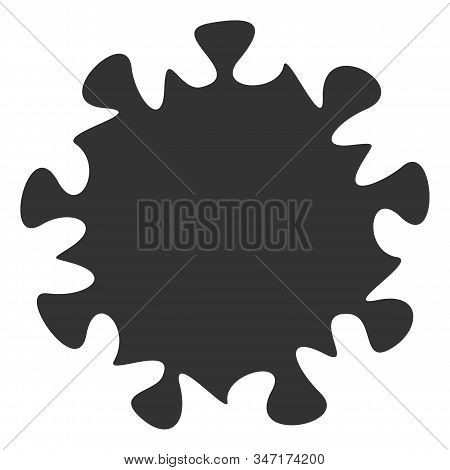 Raster Mers Virus Flat Icon. Raster Pictogram Style Is A Flat Symbol Mers Virus Icon On A White Back