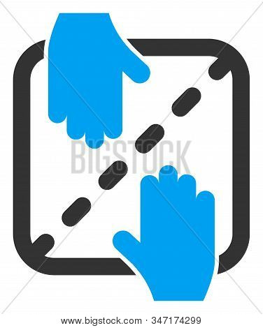 Raster Authorized Shares Flat Icon. Raster Pictograph Style Is A Flat Symbol Authorized Shares Icon