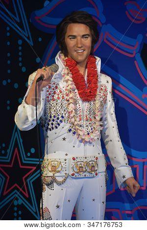 Orlando, Fl - Nov 24: Elvis Presley Wax Statue At Madame Tussauds Wax Museum At Icon Park In Orlando