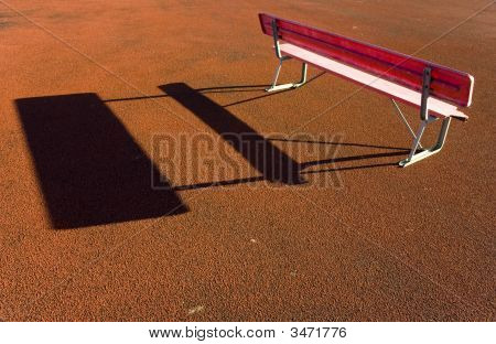 Red Bench And Ground