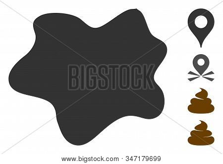 Dirt Spot Icon. Illustration Contains Vector Flat Dirt Spot Pictograph Isolated On A White Backgroun