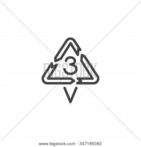 Polyvinyl Chloride Line Icon. Linear Style Sign For Mobile Concept And Web Design. V 3, Industrial M