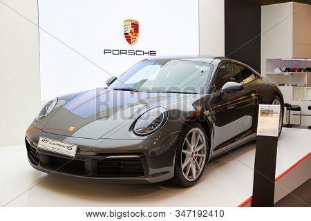 Bangkok - Dec 30, 2019: Car Show Porsche Panamera 4s  At Auto Shows And Other Exhibitions (big Motor