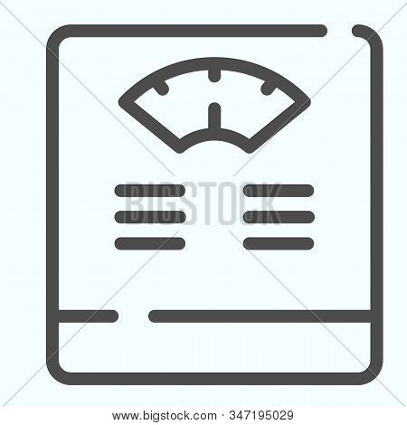 Floor Scales Line Icon. Bathroom Scales Vector Illustration Isolated On White. Weighing-machine Outl