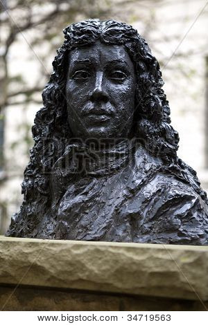 Bust Of Samuel Pepys In Seething Lane Garden