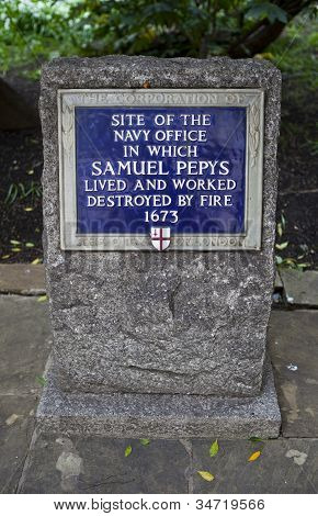 Site Of The Navy Office In Which Samuel Pepys Worked In London