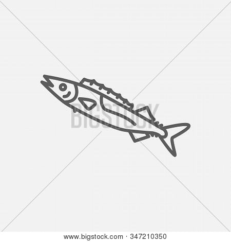 Gemfish Icon Line Symbol. Isolated Vector Illustration Of Icon Sign Concept For Your Web Site Mobile