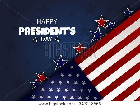 President's Day background, Presidents Day banners, american flyer, President's Day design, President's Day flag on background, vector illustration.
