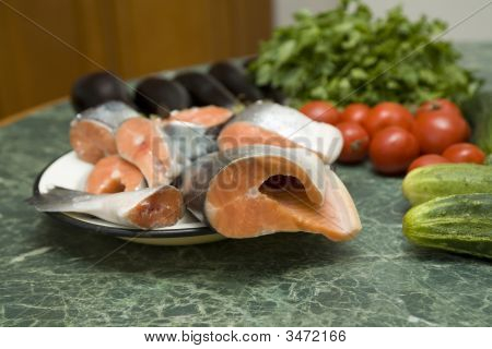 Fresh Red Salmon Fish