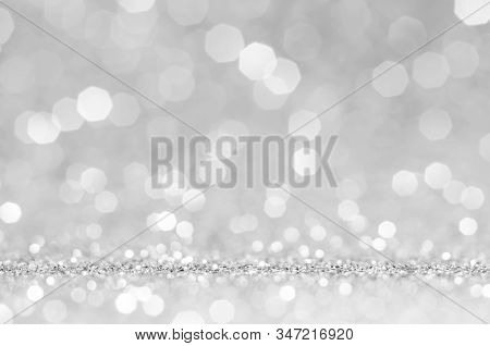White Or Light Grey Bokeh,circle Abstract Light Background,light Grey Shining Lights, Sparkling Glit
