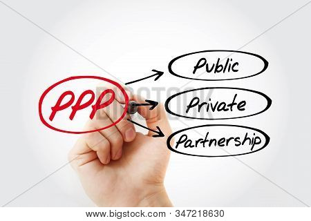 Ppp - Public-private Partnership Acronym With Marker, Business Concept Background