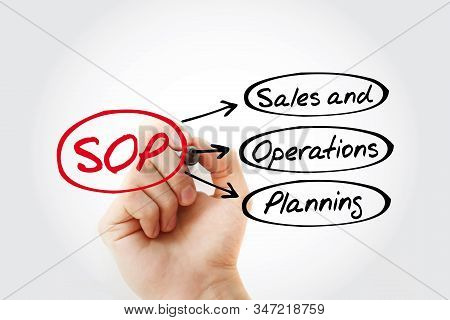 Sop - Standard Operating Procedure Acronym With Marker, Business Concept Background