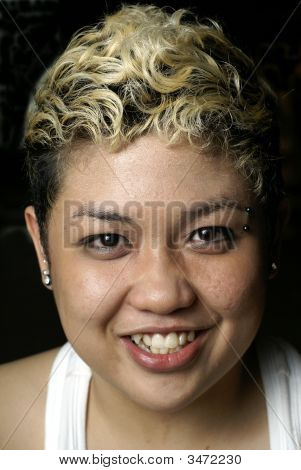 Happy Malay Punk Lady