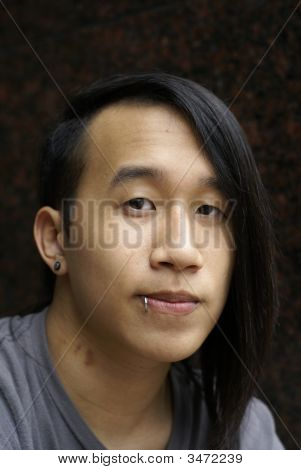 Long Hair Asian Man