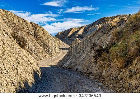 Tabernas Desert, Desierto De Tabernas. Europe Only Desert. Almeria, Andalusia Region, Spain. Protect