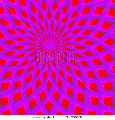 Red Blossom Blooming  (motion illusion)