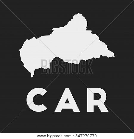 Car Icon. Country Map On Dark Background. Stylish Car Map With Country Name. Vector Illustration.
