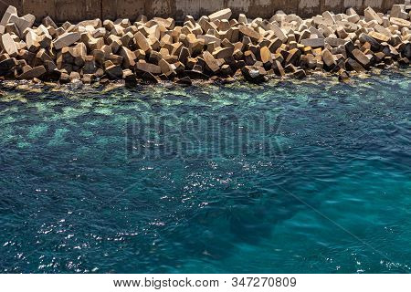 Sea Background And Pebbles. Sea Pebbles On The Beach. Sea Pebbles On The Beach Sand With Transparent
