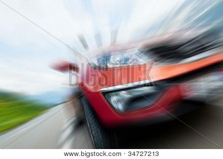 Konzept der Auto Geschwindigkeit