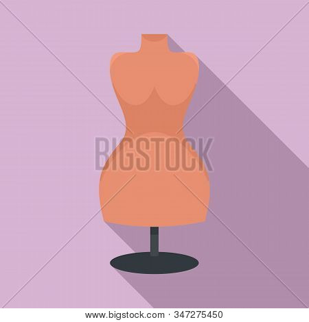 Body Mannequin Icon. Flat Illustration Of Body Mannequin Vector Icon For Web Design