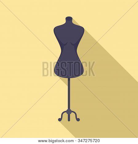 Model Mannequin Icon. Flat Illustration Of Model Mannequin Vector Icon For Web Design