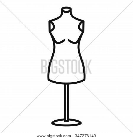 Dress Mannequin Icon. Outline Dress Mannequin Vector Icon For Web Design Isolated On White Backgroun