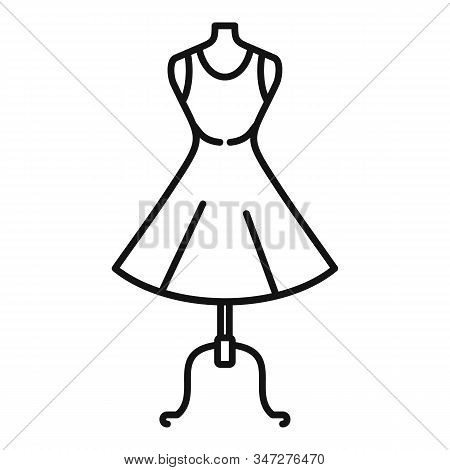 Body Mannequin Icon. Outline Body Mannequin Vector Icon For Web Design Isolated On White Background