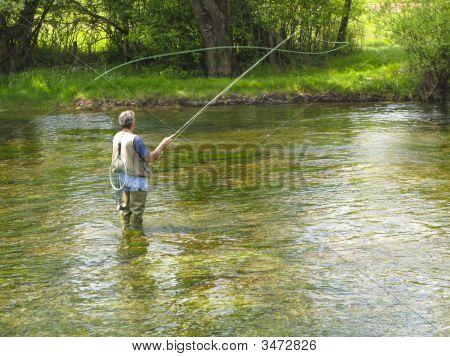 Fly Fishing On Ribnik River