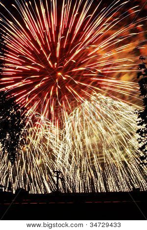 fireworks display fourth july new years