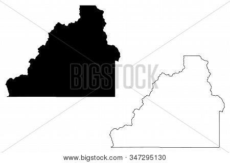San Juan County, Colorado (u.s. County, United States Of America,usa, U.s., Us) Map Vector Illustrat