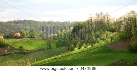 Beautiful Countryside Landscape In Bosnia