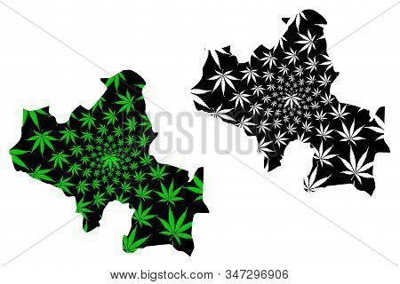 North Central Province (democratic Socialist Republic Of Sri Lanka, Ceylon) Map Is Designed Cannabis