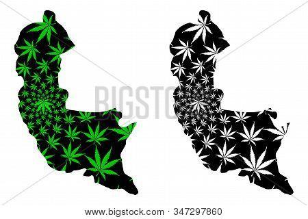 Sabaragamuwa Province (democratic Socialist Republic Of Sri Lanka, Ceylon) Map Is Designed Cannabis