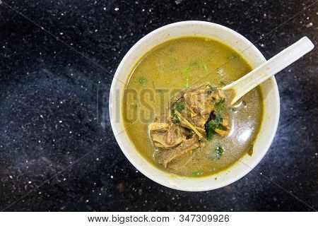 Sup Kambing, Or Mutton Soup, Popular Soup At Mamak Restaurant