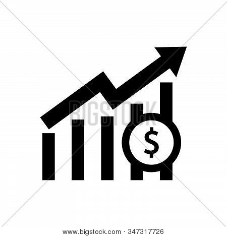 Profit Graph Icon Isolated On White Background. Profit Graph Icon In Trendy Design Style. Profit Gra