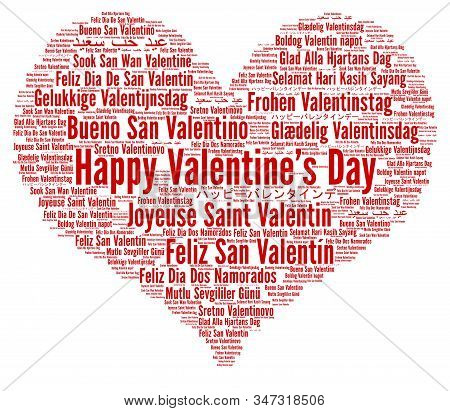 Happy Valentines Day In Different Languages Word Cloud