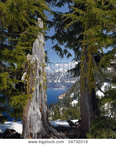 Mount Scott from Crater Lake Lodge
