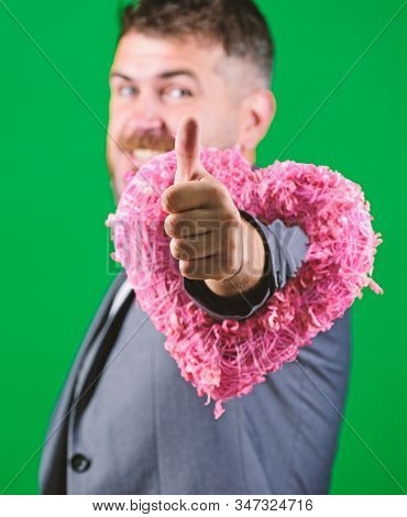 World Heart Day. Businessman In Bow Tie. Bearded Man In Formal Suit. Love. Wedding Day. Stylish Esth