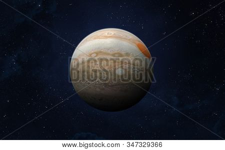 View Of Planet Jupiter From Space. Space, Nebula And Planet Jupiter. This Image Elements Furnished B
