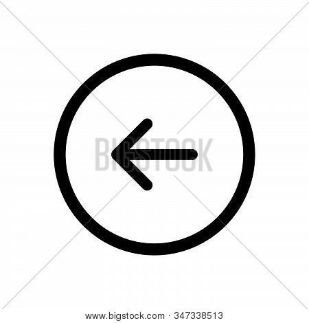 Back Button Icon Isolated On White Background. Back Button Icon In Trendy Design Style. Back Button