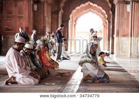 Prayer at Jama Masjid