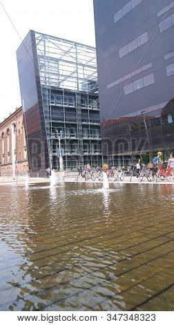 Copenhagen, Denmark - Jul 06th, 2015: The Black Diamond, The Copenhagen Royal Library Det Kongelige