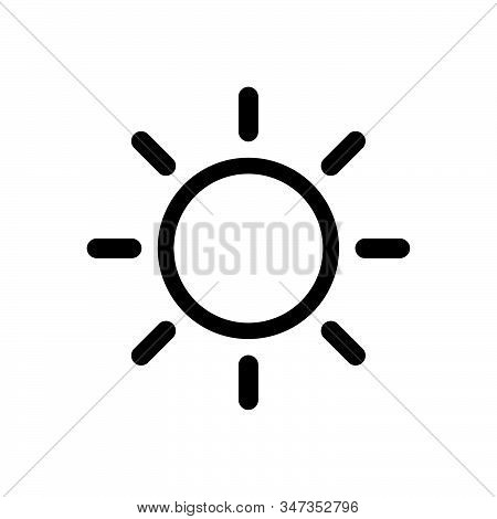 Sun Icon Isolated On White Background. Sun Icon In Trendy Design Style. Sun Vector Icon Modern And S